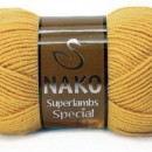 Fir de tricotat sau crosetat - Fire tip mohair din lana 50% si acril 50% Nako Superlambs Special GALBEN 6706