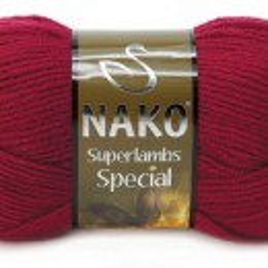 Fir de tricotat sau crosetat - Fire tip mohair din lana 50% si acril 50% Nako Superlambs Special grena 3630