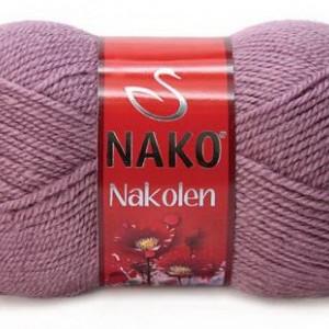 Fir de tricotat sau crosetat - Fire tip mohair din lana 50% si acril 50% Nakolen MOV 569