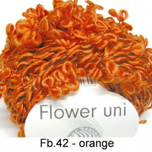 Fir de tricotat sau crosetat - FLOWER by GRUNDL UNI PORTOCALIU - 42