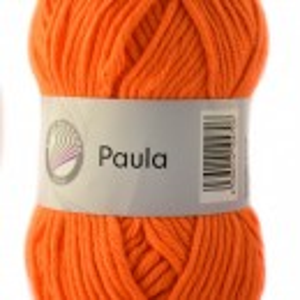 Fir de tricotat sau crosetat - PAULA UNI by GRUNDL PORTOCALIU - 16 (FLUO)