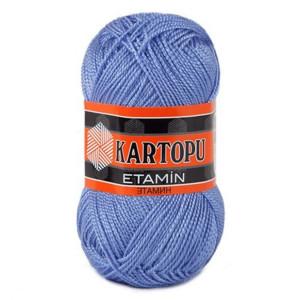 Fir de tricotat,brodat sau crosetat - Fir KARTOPU ETAMIN ALBASTRU 535
