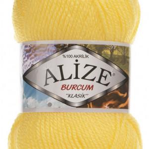 Fir de tricotat sau crosetat - Fir ACRILIC ALIZE BURCUM KLASIK GALBEN 216