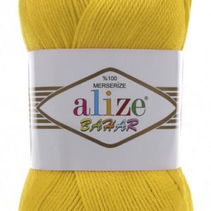 Fir de tricotat sau crosetat - Fir BUMBAC 100% ALIZE BAHAR GALBEN 216