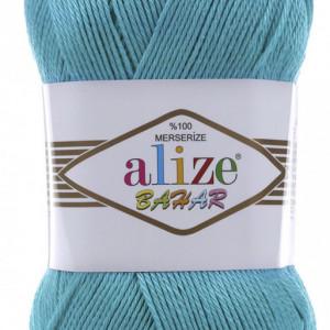 Fir de tricotat sau crosetat - Fir BUMBAC 100% ALIZE BAHAR TURQUAZ 16