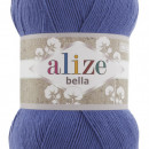 Fir de tricotat sau crosetat - Fir BUMBAC 100% ALIZE BELLA 100 - ALBASTRU 333