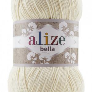 Fir de tricotat sau crosetat - Fir BUMBAC 100% ALIZE BELLA 100 - CREAM 01