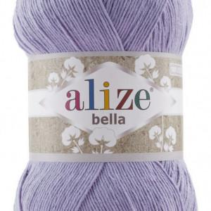 Fir de tricotat sau crosetat - Fir BUMBAC 100% ALIZE BELLA 100 - LILA 158