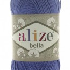 Fir de tricotat sau crosetat - Fir BUMBAC 100% ALIZE BELLA - ALBASTRU 333