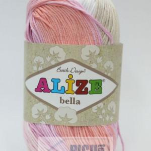 Fir de tricotat sau crosetat - Fir BUMBAC 100% ALIZE BELLA BATIK 2807