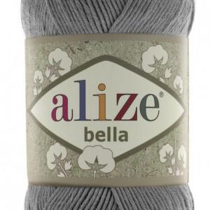 Fir de tricotat sau crosetat - Fir BUMBAC 100% ALIZE BELLA - GRI 87