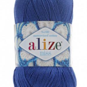 Fir de tricotat sau crosetat - Fir BUMBAC 100% ALIZE MISS ALBASTRU 497