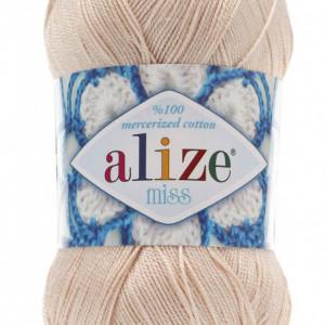 Fir de tricotat sau crosetat - Fir BUMBAC 100% ALIZE MISS BEJ 160