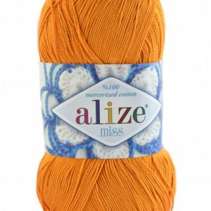 Fir de tricotat sau crosetat - Fir BUMBAC 100% ALIZE MISS PORTOCALIU 83