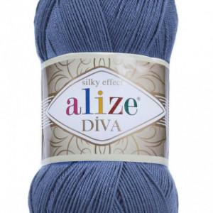 Fir de tricotat sau crosetat - Fir microfibra ALIZE DIVA ALBASTRU 353