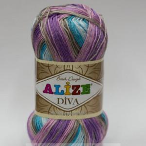 Fir de tricotat sau crosetat - Fir microfibra ALIZE DIVA BATIK DEGRADE 5553
