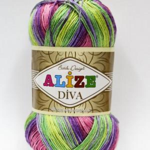Fir de tricotat sau crosetat - Fir microfibra ALIZE DIVA BATIK DEGRADE 3241