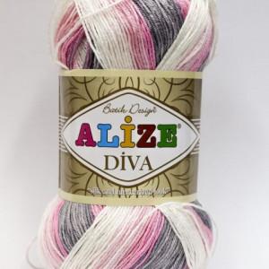 Fir de tricotat sau crosetat - Fir microfibra ALIZE DIVA BATIK DEGRADE 3245