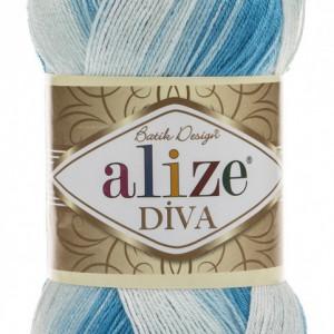 Fir de tricotat sau crosetat - Fir microfibra ALIZE DIVA BATIK DEGRADE 2130