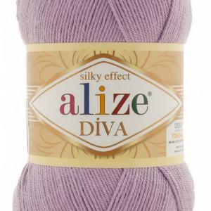 Fir de tricotat sau crosetat - Fir microfibra ALIZE DIVA LILA 505