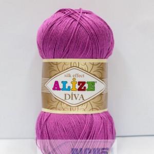 Fir de tricotat sau crosetat - Fir microfibra ALIZE DIVA ROZ 130