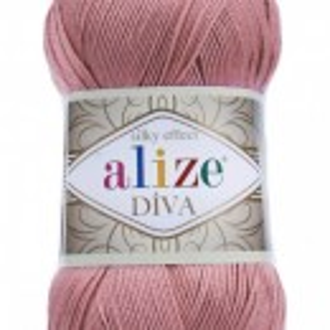 Fir de tricotat sau crosetat - Fir microfibra ALIZE DIVA ROZ 354