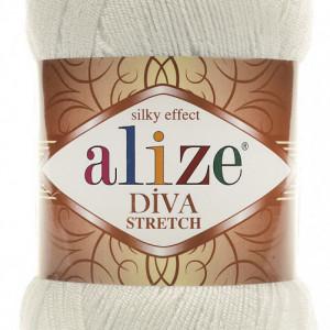 Fir de tricotat sau crosetat - Fir microfibra ALIZE DIVA STRETCH CREAM 62