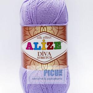 Fir de tricotat sau crosetat - Fir microfibra ALIZE DIVA STRETCH MOV 158