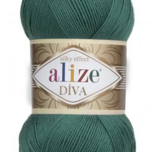 Fir de tricotat sau crosetat - Fir microfibra ALIZE DIVA VERDE 453
