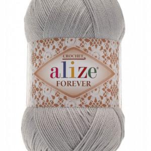 Fir de tricotat sau crosetat - Fir microfibra ALIZE FOREVER GRI 52