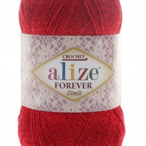 Fir de tricotat sau crosetat - Fir microfibra ALIZE FOREVER SIMLI ROSU 106
