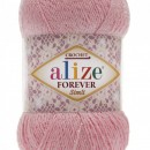Fir de tricotat sau crosetat - Fir microfibra ALIZE FOREVER SIMLI ROZ 32
