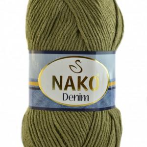 Fir de tricotat sau crosetat - FIR NAKO DENIM VERDE OLIV COD 11191
