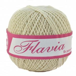 Fir de tricotat sau crosetat - Fire Bumbac 100% FLAVIA ROMANOFIR BOBINA CREAM 1203