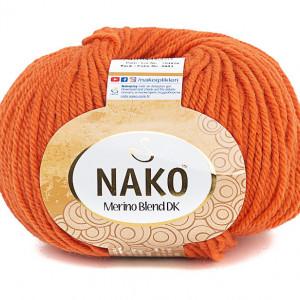 Fir de tricotat sau crosetat - Fire din lana 100% Nako Merino Blend DK - PORTOCALIU COD 6963