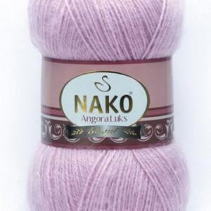 Fir de tricotat sau crosetat - Fire tip mohair acril NAKO ANGORA LUKS LILA 6880