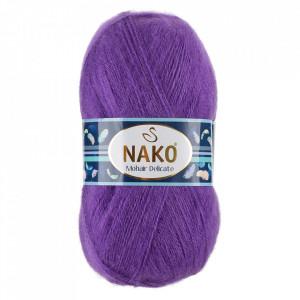 Fir de tricotat sau crosetat - Fire tip mohair acril NAKO MOHAIR DELICATE - MOV COD 6118