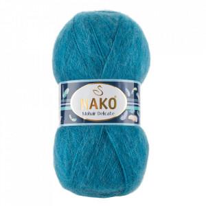 Fir de tricotat sau crosetat - Fire tip mohair acril NAKO MOHAIR DELICATE - ALBASTRU COD 6123