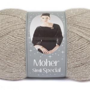 Fir de tricotat sau crosetat - Fire tip mohair acril NAKO MOHER SIMLI SPECIAL BEJ 1199G