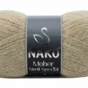 Fir de tricotat sau crosetat - Fire tip mohair acril NAKO MOHER SIMLI SPECIAL BEJ 23116SE