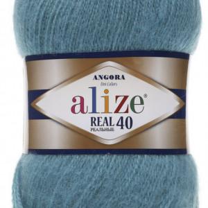 Fir de tricotat sau crosetat - Fire tip mohair din acril Alize Angora Real 40 Bleo 164