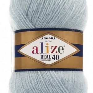 Fir de tricotat sau crosetat - Fire tip mohair din acril Alize Angora Real 40 Bleo 114