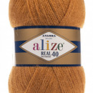 Fir de tricotat sau crosetat - Fire tip mohair din acril Alize Angora Real 40 Bej 234