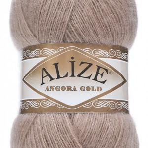Fir de tricotat sau crosetat - Fire tip mohair din acril Alize Angora Gold Bej 542