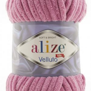 Fir de tricotat sau crosetat - Fire tip mohair din acril ALIZE VELLUTO LILA 98