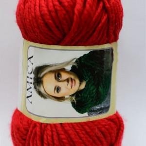 Fir de tricotat sau crosetat - Fire tip mohair din acril AMICA ROSU - 309