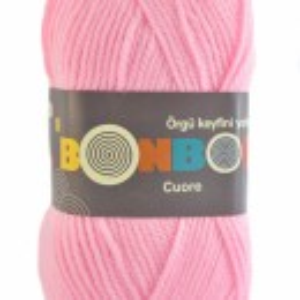 Fir de tricotat sau crosetat - Fire tip mohair din acril BONBON CUORE - ROZ - 98588