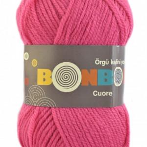 Fir de tricotat sau crosetat - Fire tip mohair din acril BONBON CUORE - ROZ - 98319