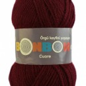 Fir de tricotat sau crosetat - Fire tip mohair din acril BONBON CUORE - GRENA - 98220