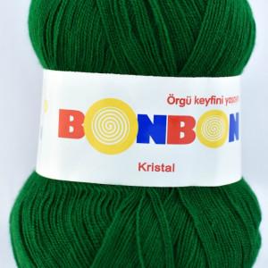 Fir de tricotat sau crosetat - Fire tip mohair din acril BONBON KRISTAL Verde 98325